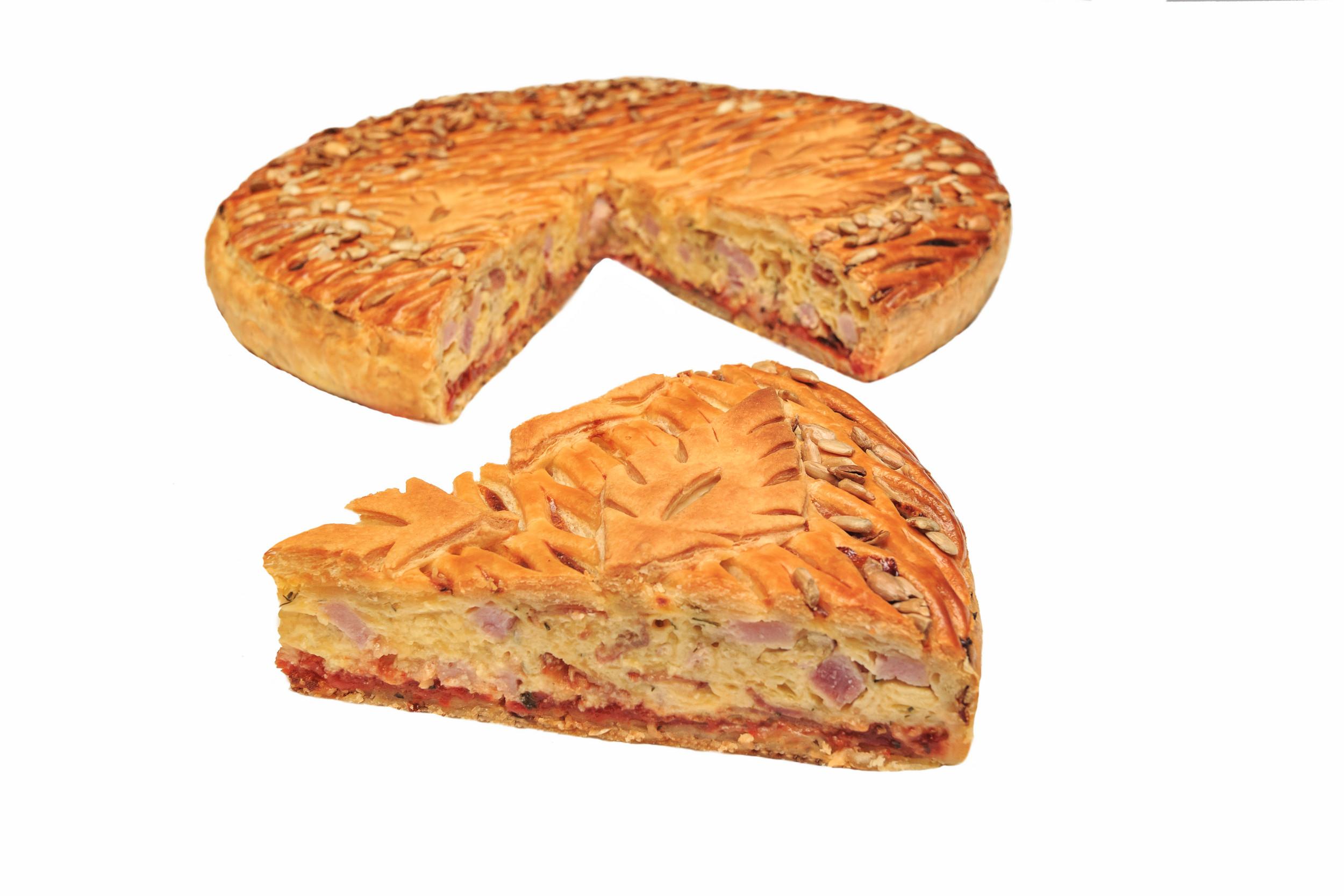 Слоеное тесто с ветчиной и сыром в духовке рецепт пошагово в